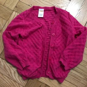 Gymboree cotton magenta knit cardigan 2t